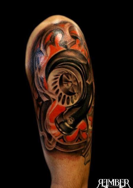 turbo tattoo sleeve turbo tattoos