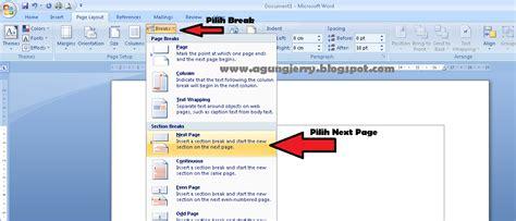cara membuat halaman landscape di word 2007 membuat page layout portrait dan landscape dalam satu file