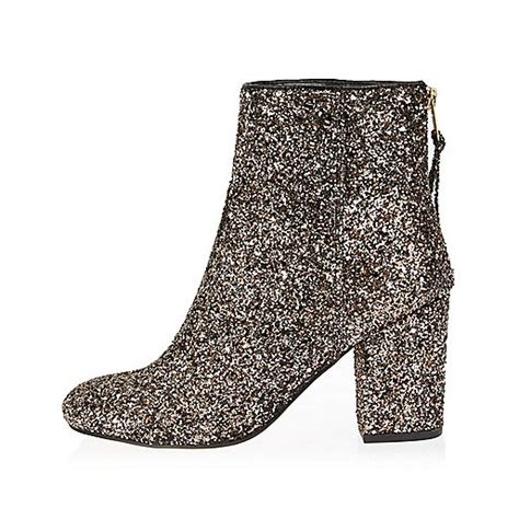 glitter ankle boots gold glitter block heel ankle boots boots shoes