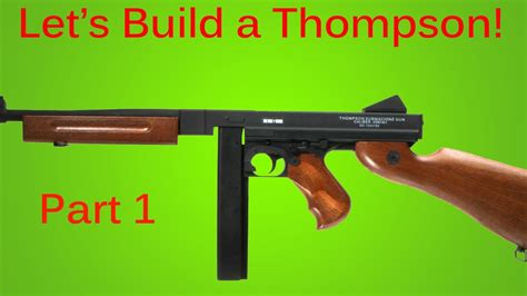 How To Make A Paper Smg - how to make a prop gun thompson machine gun part 1