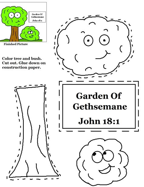 coloring pages for the garden of gethsemane garden of gethsemane cutout activity sheet for kids