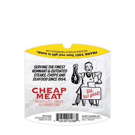 Reduced Gift Cards - cheap meats prank gift card holder 4 99 funslurp com unique gifts and fun