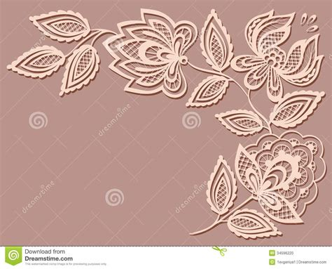 pattern design element beautiful floral pattern a design element in the stock