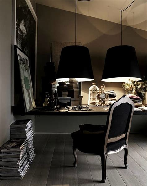 The Office Black by Pinterio Home Office With Black Chair And Ls