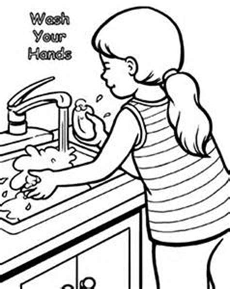 washing coloring pages for preschoolers wash your coloring image clipart best