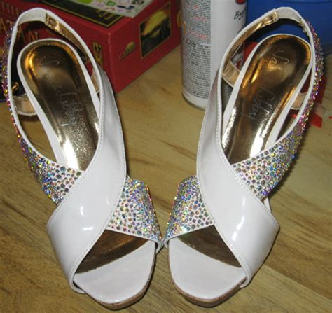 diy rhinestone shoes shermilla s i was asked to make the wedding cake for