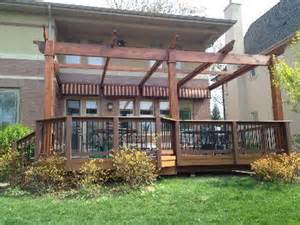 Replacing Awning Fabric Deck And Pergola In Elmhurst Il Composite And Vinyl