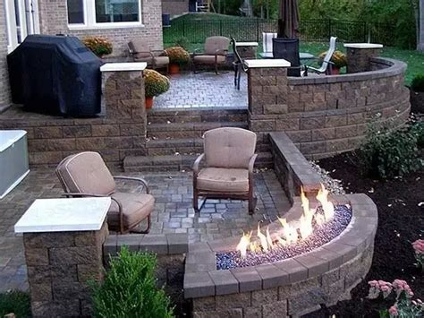 backyard gas fire pit 20 backyard gas fire pit ideas you should not miss