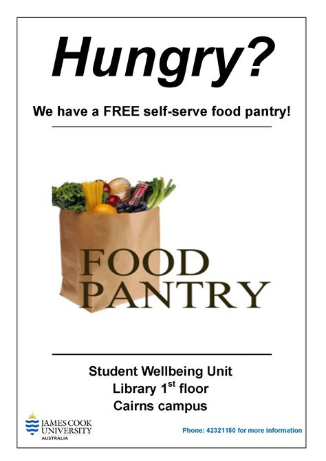 Food Pantry Flyer by Your With The Cairns Food Pantry Jcu
