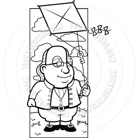 cartoon of benjamin franklin coloring page coloring pages