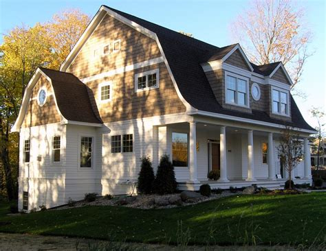 Gambrel Style Homes by Gambrel Style House Exterior Traditional With Wood Trim