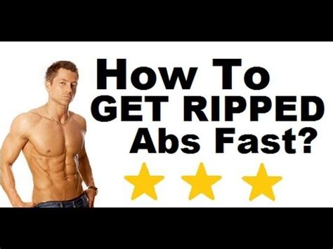 how to get ripped abs chest and arms fast in a week at