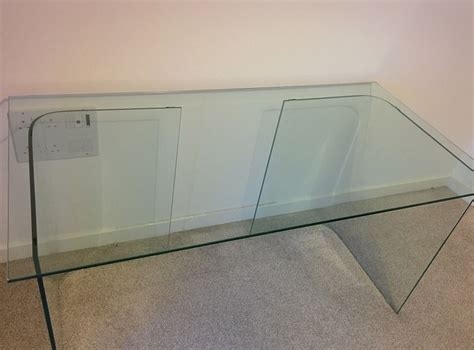John Lewis Staten Glass Corner Desk For Sale Posot Class Staten Glass Corner Desk