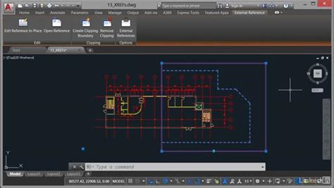 tutorial autocad xref clipping xrefs