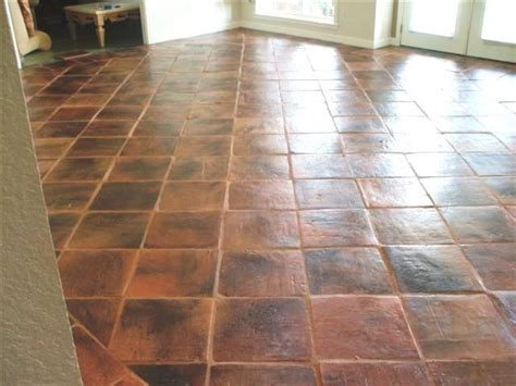 Floor Tiles 16x16 by 16x16 Square Antique Terra Cotta Saltillo Wall And Floor