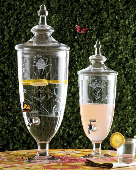 drink dispenser cheers to these chic clear drink dispensers dining and