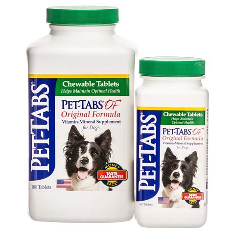 vitamins for dogs pet tabs pet tabs of original formula vitamin mineral supplement for dogs supplements