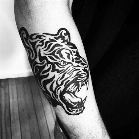 tribal tiger tattoo designs for men 40 tribal tiger designs for big cat ink ideas
