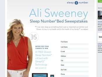 Sweepstakes Number - sleep number ali sweeney sweepstakes