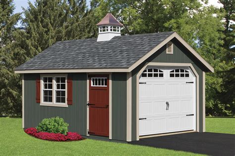 garage cupola pre built custom garages cedar craft storage solutions