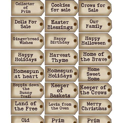 printable primitive labels free printable prim tags christmas pinterest tags
