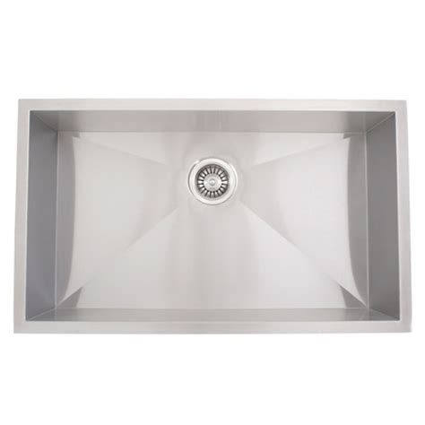 undermount stainless steel kitchen sink ticor s3510 undermount 16 stainless steel kitchen sink