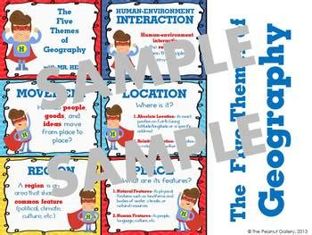 5 themes of geography illustration the five themes of geography posters with mr help by