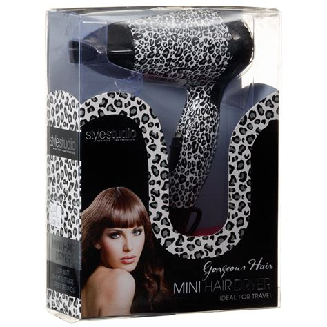Leopard Print Hair Dryer printed mini hair dryer white leopard hairdryer b m