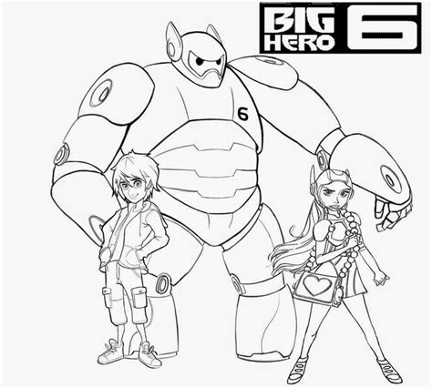 Free Big Hero 6 Printable Coloring Pages Big Printable Coloring Pages