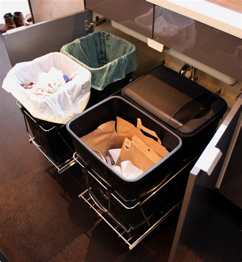 Kitchen Cabinet Trash Can Pull Out talking trash chezerbey
