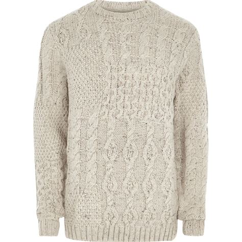 cable knit jumper spliced cable knit jumper jumpers jumpers