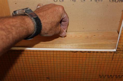 Up Flush Shower by Installing A Kerdi Board Niche