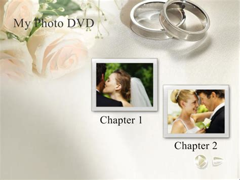 free wedding themed dvd menu background templates
