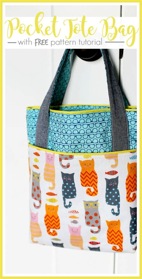 pattern making lessons free pocket tote library bag bags patterns and tutorials