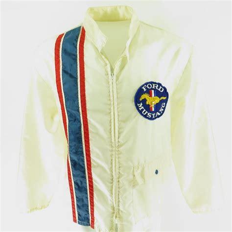 vintage 70s ford mustang jacket xl racing windbreaker