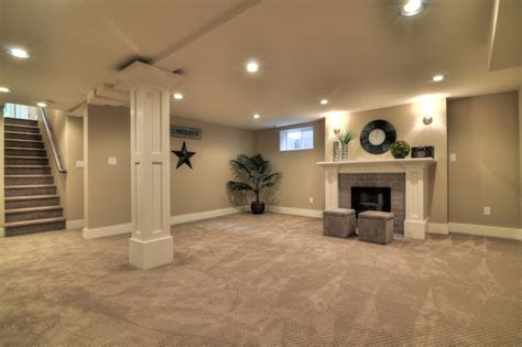 basements design simple lots of lights basement renovation basement