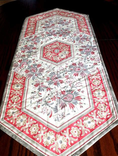 french country table runner patchwork quilted table runner moda french general border
