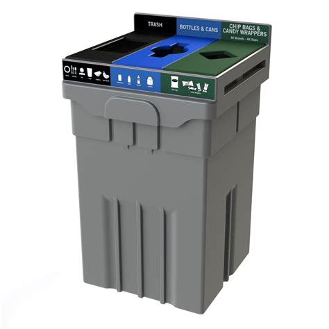 Three Section Recycling Bin by Transition 174 Tpm 51 Cleanriver