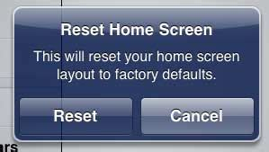 how to reset the home screen layout on the 2 solve