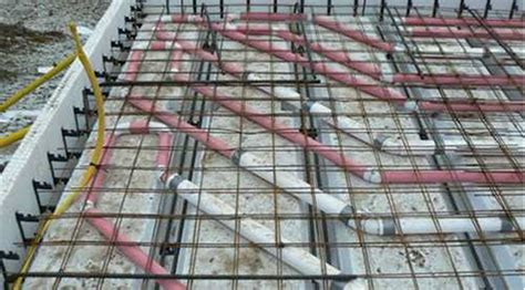 insulated slab  grade foundation forms radiant heated