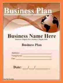 5 examples of business plan cover page bussines