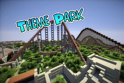 theme park minecraft minecraft theme park rollercoaster youtube
