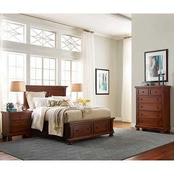 costco ashfield 4 piece queen storage bedroom set food walden 4 piece queen storage bedroom set