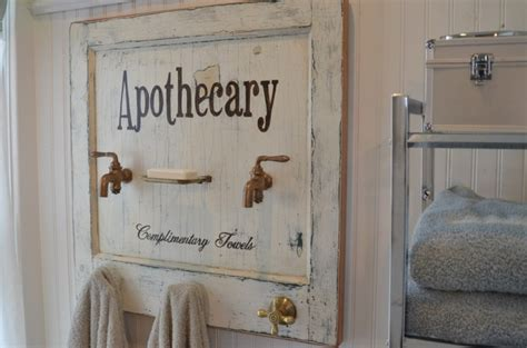 vintage bathroom decor apothecary bath towel rack made from a vintage door