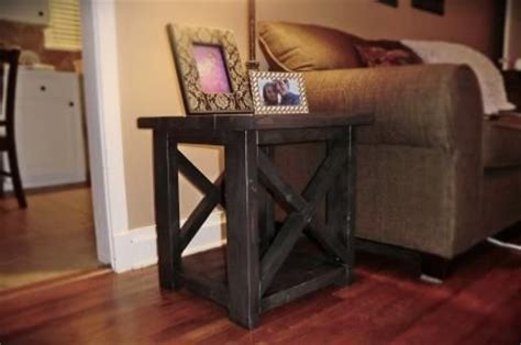 Do It Yourself Living Room Table Smaller Rustic X End Table Do It Yourself Home Projects