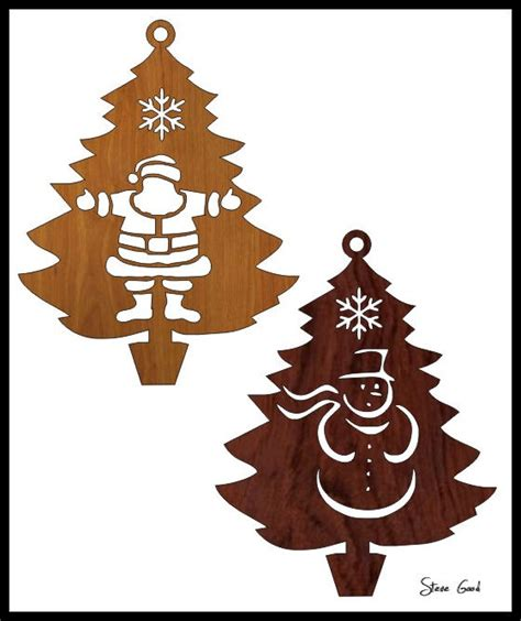 scrollsaw workshop four christmas tree ornaments scroll