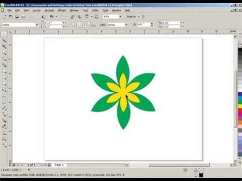 how to draw line in coreldraw x5 how to make a flower in corel draw x3 x5 youtube