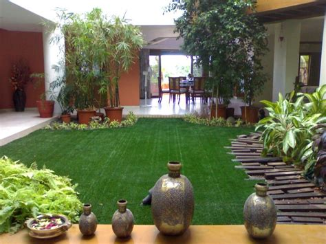 a beautiful garden adorned by our artificial grass inside