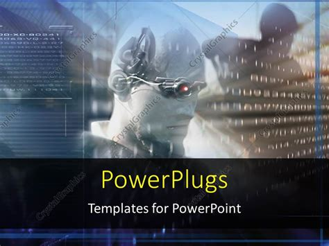 Powerpoint Template Future Science Technology Virtual Reality An Android Read The Coded Augmented Reality Ppt Template
