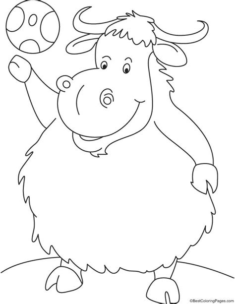 coloring pages yak yak coloring pages